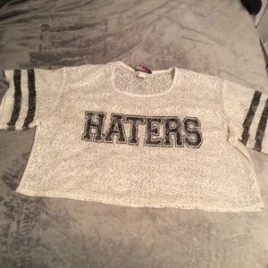 Tops - Haters' statement jersey shirt
